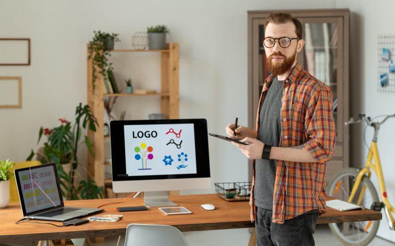 Freelance brand designer at home